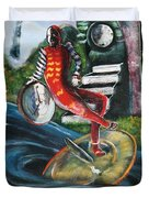 The Jester Of Time Duvet Cover