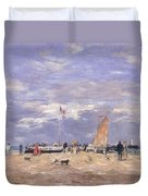 The Jetty At Deauville Duvet Cover