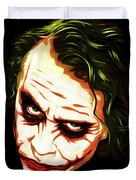 The Joker - Pop Art Duvet Cover