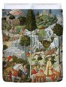 The Journey Of The Magi To Bethlehem Duvet Cover