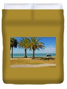 The Joy Of Sea And Palms Duvet Cover
