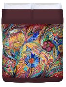 The Joyful Iris Duvet Cover