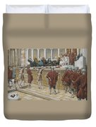 The Judgement On The Gabbatha Duvet Cover by Tissot