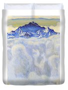 The Jung Frau Above A Sea Of Mist Duvet Cover
