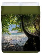The Jungle At Onomea Bay  Duvet Cover