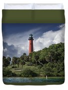 The Jupiter Inlet Lighthouse Duvet Cover