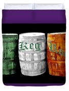 The Keg Room Irish Flag Colors Old English Hunter Green Duvet Cover