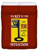 The Key To The Situation - Ww1 Duvet Cover