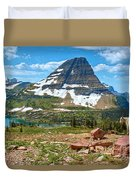 The Kid And The Bear Duvet Cover