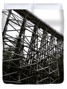 The Kinsol Trestle Panorama View On Snowy Day 1. Duvet Cover