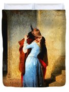 The Kiss Of Hayez Revisited Duvet Cover