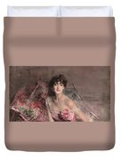 The Lady In Pink Duvet Cover