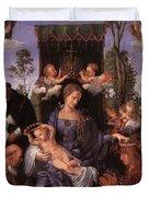 The Lady Of The Festival Du Rosaire Fragment Duvet Cover