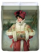 The Lady Of The Snows Duvet Cover