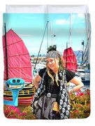 The Lady Pirate Duvet Cover