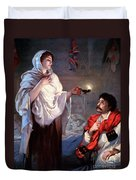 The Lady With The Lamp, Florence Duvet Cover by Science Source