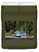 The Lake House - Digital Oil Duvet Cover