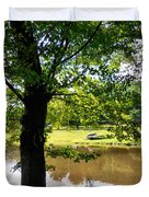 The Lake In The Park Duvet Cover