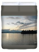 The Lake Of Two Rivers At Dawn Duvet Cover
