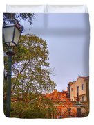 The Lamppost In Oil Duvet Cover