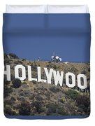 The Landmark Hollywood Sign Duvet Cover