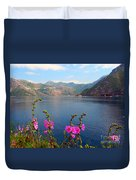 The Landscape Of The Bay Of Kotor In Montenegro. Duvet Cover