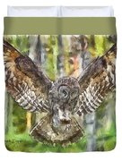 The Largest Owl Duvet Cover
