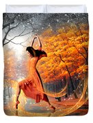 The Last Dance Of Autumn - Fantasy Art  Duvet Cover