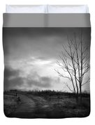 The Last Dawn - Grayscale Duvet Cover