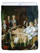 The Last Hours Of Mozart 1756-91 Henry Nelson Oneil Duvet Cover