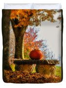The Last Pumpkin Duvet Cover by Lois Bryan