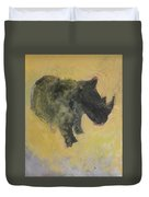 The Last Rhino Duvet Cover