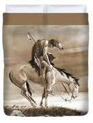 The Last Ride Duvet Cover