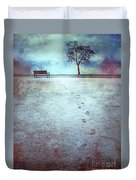 The Last Snowfall Duvet Cover