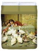The Last Spoonful Duvet Cover by Briton Riviere