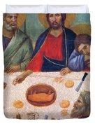 The Last Supper Fragment 1311 Duvet Cover