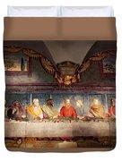 The Last Supper. Fresco In Church Santa Maria Del Carmine, Florence  Duvet Cover