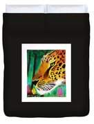 The Leopard And The Butterfly Duvet Cover