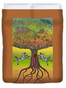 The Life-giving Tree. Duvet Cover by Jarle Rosseland