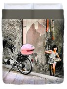 The Life.vieste.italy Duvet Cover