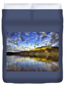 The Light At Skaha Lake Duvet Cover