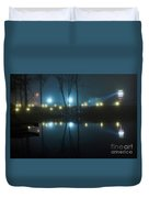 The Light From The Shore Lights Reflected In The Water 3 Duvet Cover
