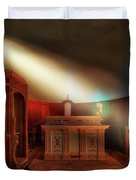 The Light In The Abandoned Church - La Luce Nella Chiesa Abbandonata Duvet Cover