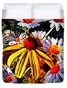 The Light Within The Flowers Duvet Cover