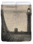 The Lighthouse At Honfleur Duvet Cover