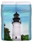 The Lighthouse At Key West Florida Duvet Cover