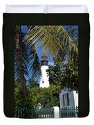 The Lighthouse In Key West II Duvet Cover