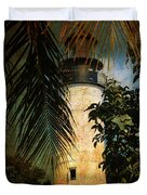 The Lighthouse In Key West Duvet Cover