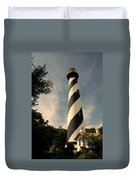The Lighthouse In St.augustin Fl Duvet Cover