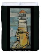 The Lighthouse Keeper Poster Duvet Cover